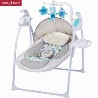 Авто качели характер Ptbab детское кресло качалка электрический ребенка колыбель кровать Placarders Concentretor шезлонг детская кровать
