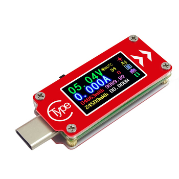 TC64 Type-C color LCD USB Power Meter Tester Digital Current Tester Voltage Detector, Capacity of Power Bank 30%off