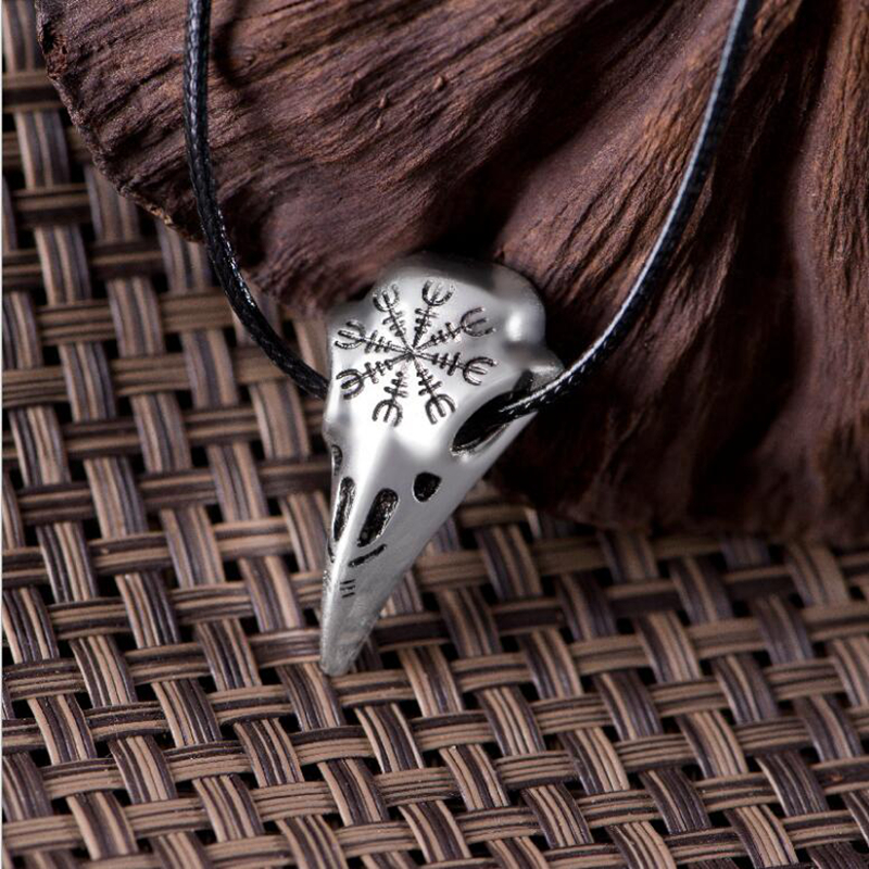 SUTEYI Fashion Viking odin nose symbol runic pendant necklacs