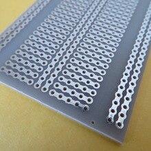 2шт 5x7 см 5er шарнирные отверстия FR4 стекловолокно прототипирование печатная плата стрипборд Veroboard платиновая макетная плата эксперимент pcb