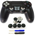 Enhanced Swap Thumbstick Joystick Thumb Stick Grips Caps Metal Magnetic Stick Set for Xbox One Elite Controller For PS4 Gamepad