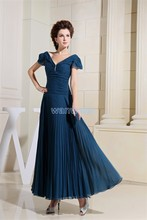 free shipping new fashion 2013 dinner dress blue formal cap sleeve maxi dresses chiffon long Mother of the Bride Dresses