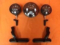 1 X Combo Harley Headlight 7 Projector Light 4 5 Auxiliary Spot Light 2 4 5