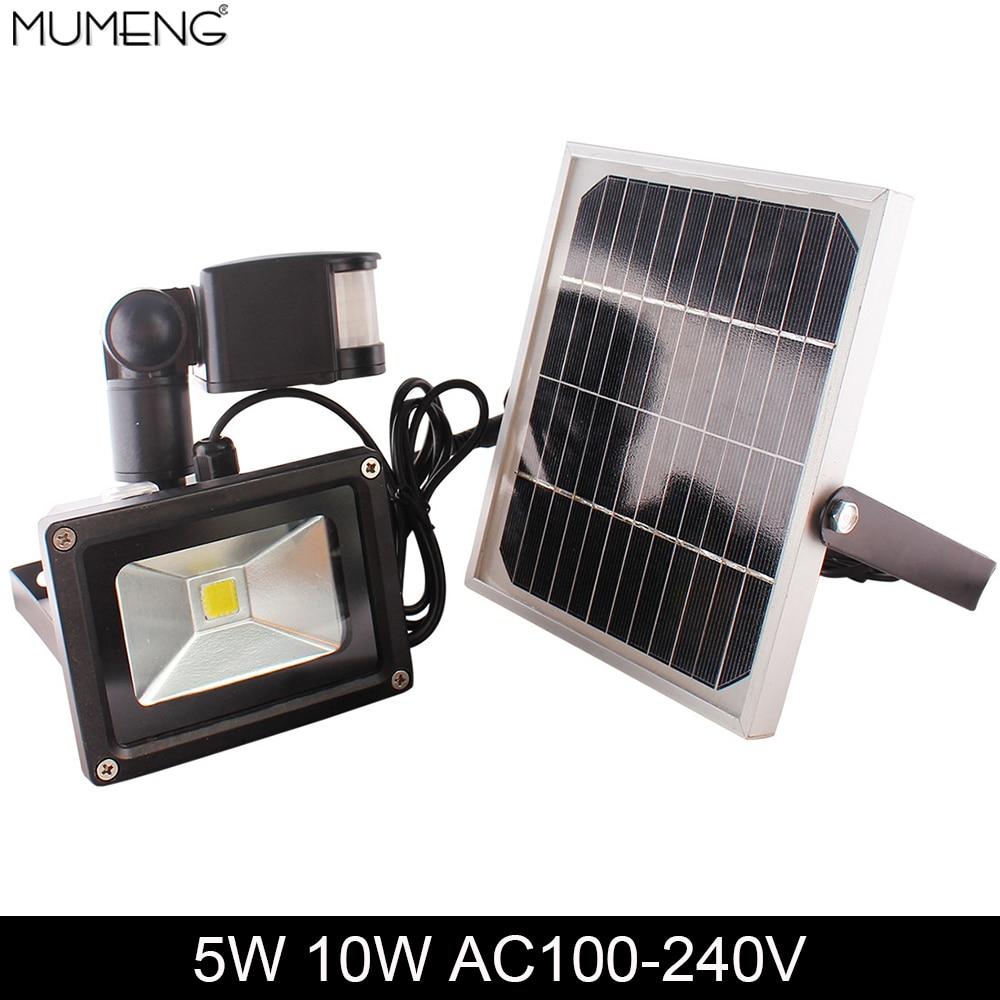 Mumeng Led Motion Sensor Floodlight 5w 10w Outdoor Solar