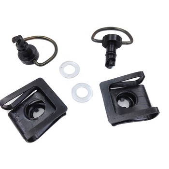 Aftermarket free shipping motorcycle parts Quick Release Dzus Style Motorcycle 1/4 Turn Fairing Fastener 19mm Pins Black