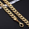 Daiveslee Fashion Gold Filled Necklace Mens Boys Chain Necklace Customized Length Curb Link Chain DLGN57