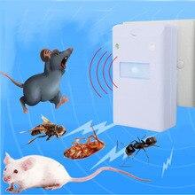 Elettronico ad ultrasuoni di Controllo Dei Parassiti Roditore Ratto Del Mouse Repeller Mouse Del Mouse Repellente Anti Zanzara Del Mouse Repeller Del Roditore Spina DEGLI STATI UNITI UE