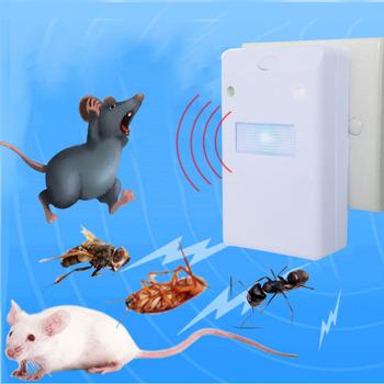 Ultradźwiękowy elektroniczny zwalczanie szkodników gryzoni szczur odstraszacz myszy myszy środek odstraszający myszy przeciw komarom odstraszacz myszy gryzoni wtyczka do usa ue tanie i dobre opinie Brak Ultrasonic Pest Repellers Karaluchy Komary
