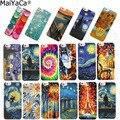 MaiYaCa For coque iPhone X XS XR 6s 5s 8 7 plus case Scream by Munch Van Gogh Starry Night sun Flower Star Scenery Palette funda