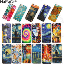 MaiYaCa For coque iPhone X 6s 5s 8 plus 7 plus case Scream by Munch Van Gogh Starry Night sun Flower Star Scenery Palette funda(China)