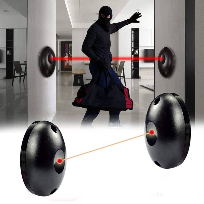 External Positioning Alarm Detector Infrared Beam Sensor Barrier For Gates, Doors, Windows Protection Against Hacking System