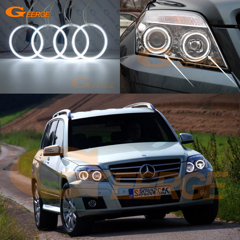 For Mercedes Benz GLK 280 300 320 350 2010 2011 2012 Excellent Angel Eyes Ultra bright illumination ccfl angel eyes kit for mercedes benz b class w245 b160 b180 b170 b200 2006 2011 excellent multi color ultra bright rgb led angel eyes kit