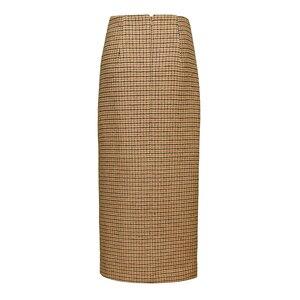 Image 5 - Ael retro feminino altura da cintura assimetria de lã midi saia envoltório novo xadrez roupas femininas moda vintage jupe longue femme magro