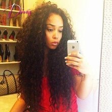 Divas wig human hair wigs,curly glueless full lace wig black 130% density Brazilian virgin lace front hair instock