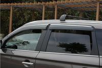 4 pcs porta do carro janela visor vento chuva guarda sol viseira vent trims para mitsubishi outlander 2007-2012/2013-2015/2016 2017