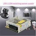 Alta quality30W 24 V 1.25A Salida Doble Fuente De alimentación Conmutada para la Tira del LED luz, envío gratis