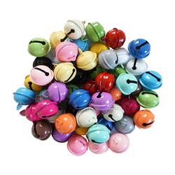 10PCS/LOT 22mm Colorful Iron Metal Jingle Bell Christmas Party Decoration Pendants DIY Crafts Handmade Accessories