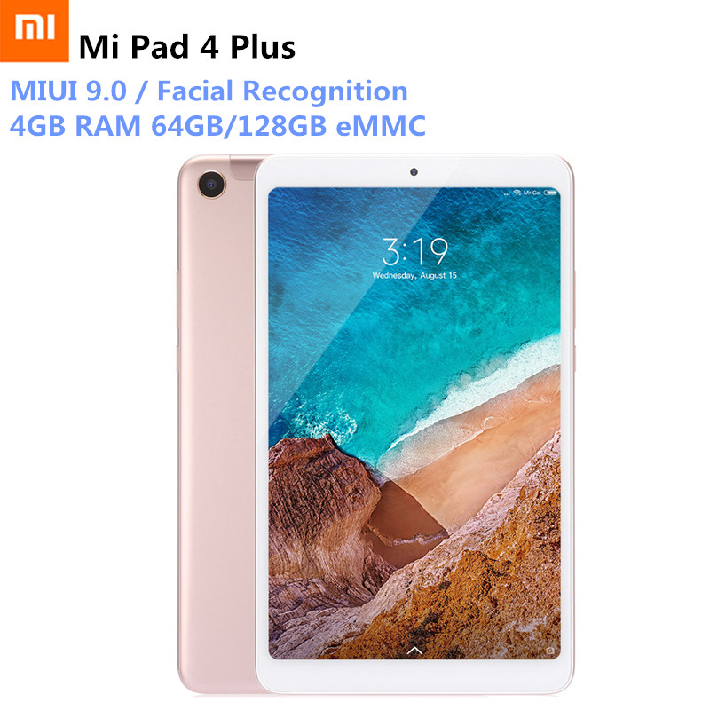 Xiaomi Mi Pad 4 Plus 4G Phablet 10.1'' MIUI 9.0 Qualcomm Snapdragon 660 64GB/12GB Facial Recognition 13MP Dual WiFi Tablet PC xiaomi mi 5x 4g phablet english and chinese version