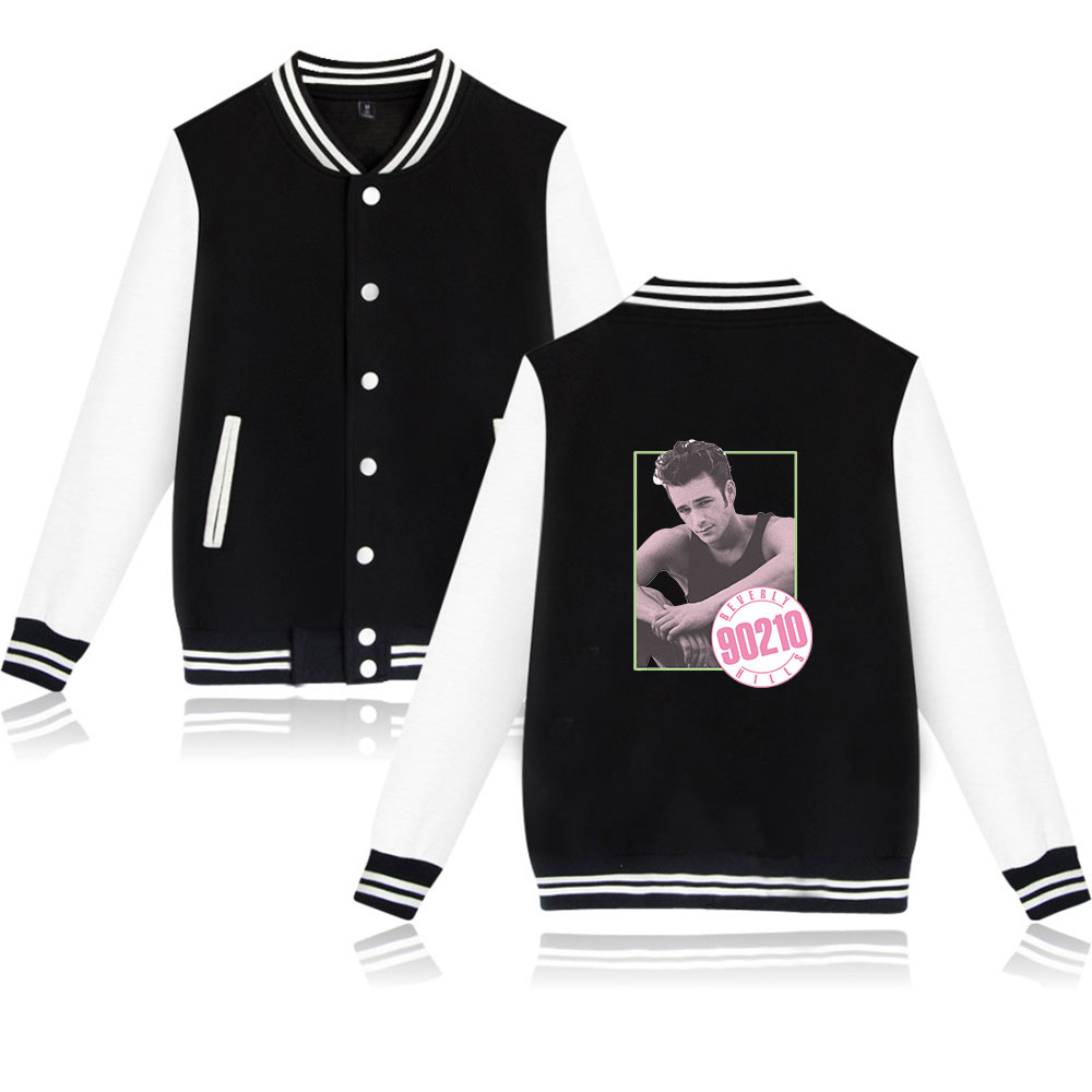 Jackets & Coats Men's Clothing Discreet Beverly Hills 90210 Luke Perry Print Baseball Jackets Capless Male Sweatshirts Hiphop Fashion Kpop Coat Plus Size Xxs-4xl Dependable Performance
