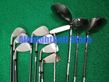 11 pcs 골프 클럽 완료 세트 aerobur 골프 세트 남자 드라이버 + 페어웨이 + 철 + 퍼터 흑연/스틸 샤프트 캐디 가방