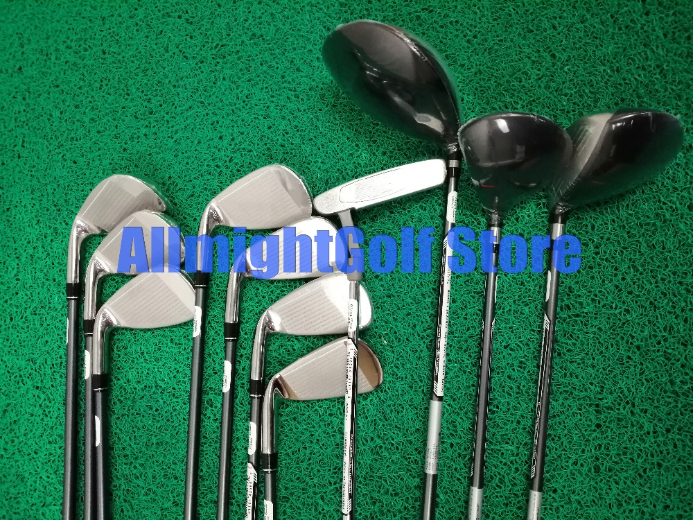 11pcs Golf club Complete set AeroBur Golf Set For Men Driver+ Fairway+ Iron+ Putter Graphite/Steel Shaft with Caddy Bag-in Golf Clubs from Sports & Entertainment
