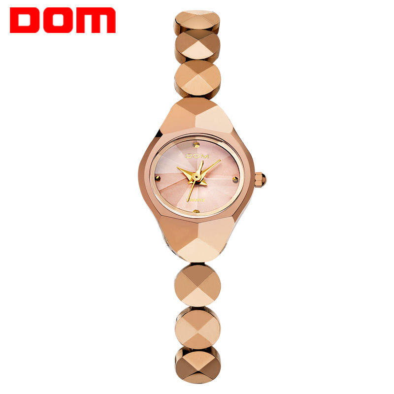 DOM women's watches luxury brand waterproof quartz Wrist watch Tungsten steel gold nurse watch bracelet Ladies Watch clock W735 dom women luxury brand waterproof style quartz watch tungsten steel gold nurse watch bracelet women