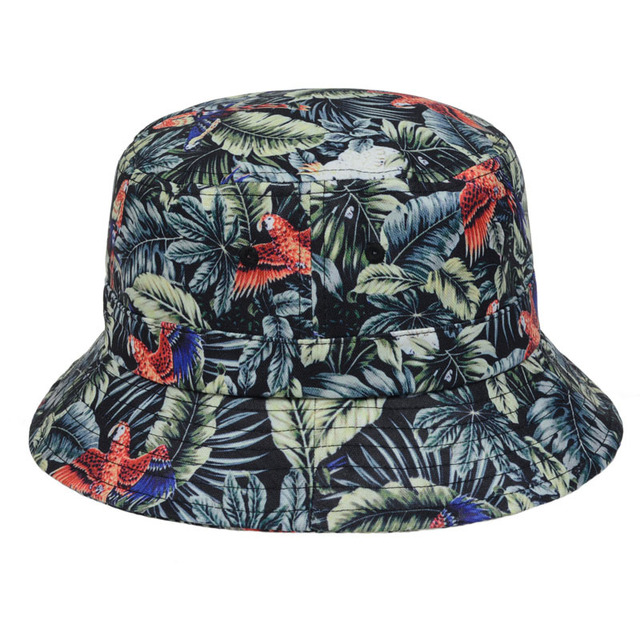 25b49923b56 New Style Animal Leaves Floral Bucket Hat Men Women Outdoor Hiking Fishing Sun  Cap Beach Bucket Hats Beanie Top Quality Goldtop