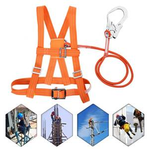 Rescue-Rope Safety-Belt Climb-Harness Adjustable 3-Stypes Buckle Aerial-Work Outdoor