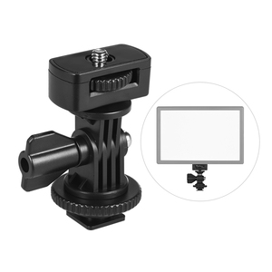 """Image 2 - Andoer Adjustable Cold Hot Shoe Mount Adapter with 1/4"""" Screw for Viltrox DC 90 DC 70 DC 50 Monitor L132T L116T LED Video Light"""