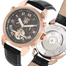 цена на Luxury Brand JARAGAR Day Display Men Watch Tourbillon Self-Wind Mechanical Watches Sport 2017 New Fashion Leather Band Men Clock