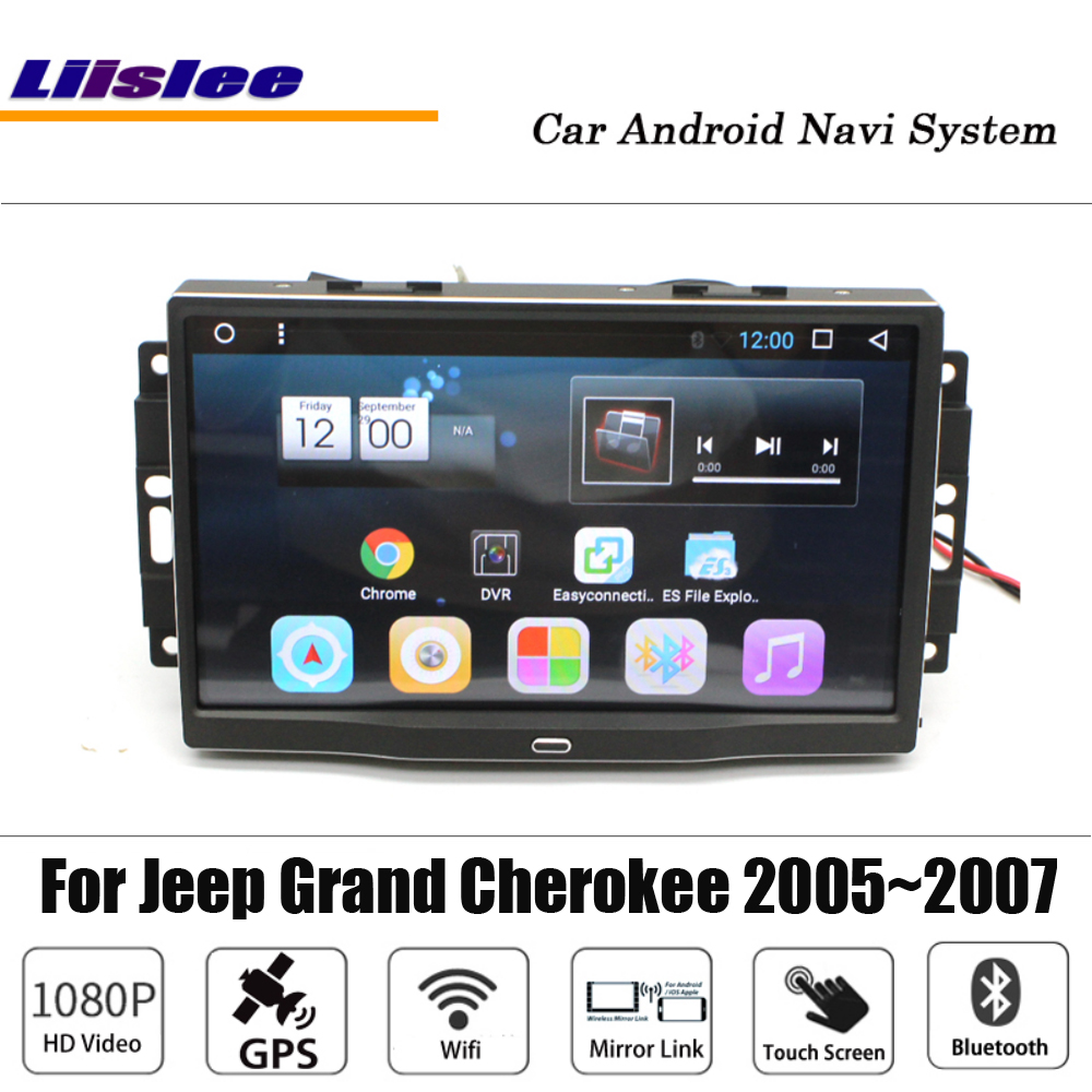 Liislee Android 7 1 up For Jeep Grand Cherokee 2005 2007 GPS Navigation Stereo 10 2