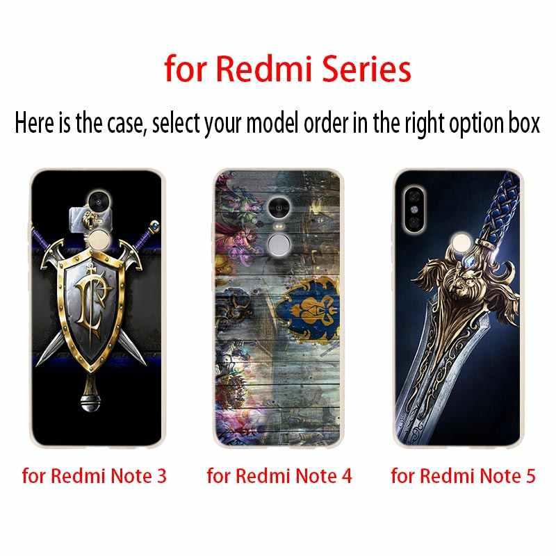Suave Caso Capa de Telefone Para Xiaomi redmi Nota 8 7 6 5 Pró redmi 7 8 UM s2 6pro 6a 5a 4a 4x y3 5 além de World of warcraft wow 7A lo7A