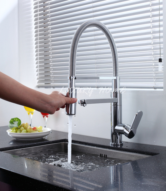 High End Kitchen Faucets Brands Free Remodel Shipping Quality Fashion Latest New Style Brand Faucet Pull Out Spray Tap Dual Flow Sink Spring Mixer