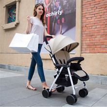Hot Free Foot Ultra Light Four Wheel Portable Poussette Folding Baby Stroller Car Carriage Buggy Pram Multifunction Kinderwagen