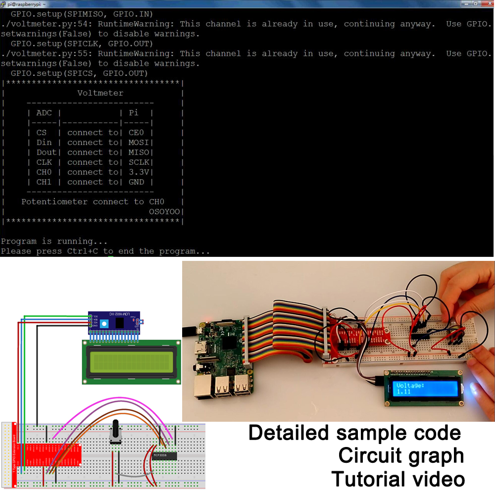 Image 3 - Raspberry Pi 3 Starter Kit DIY Electronic RPi Learning Kit for  Beginner Display pca9685 with C/Python code and video tutorialDemo  Board