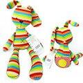 Os Recém-chegados Rainbow Mamas & Papas Coelho com Marcas CE 50 CM comprimento Bonito Lovely Baby Brinquedos De Pelúcia para o Presente Das Crianças Dos Miúdos HT3077