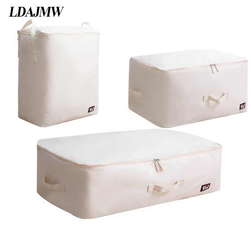 Bolsa de almacenamiento de tela Oxford gruesa multifunción bolsa de almacenamiento de ropa Extra grande bolsa de acabado ropa de cama organizadores contenedor caja de almacenamiento