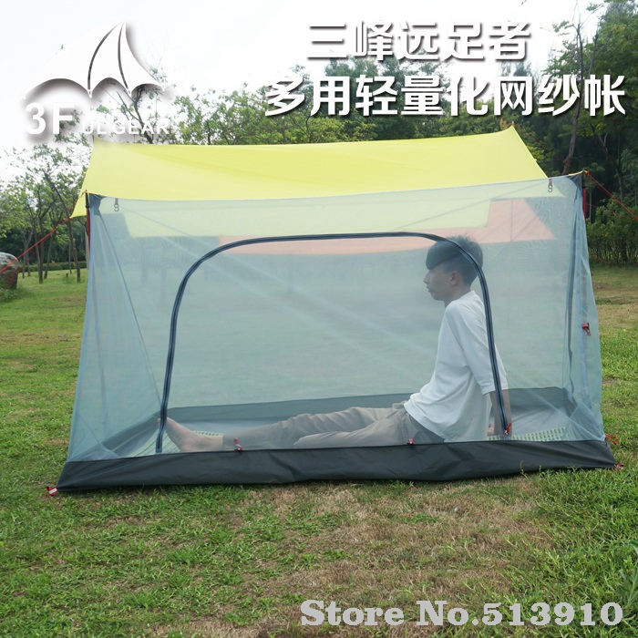 3F ul GEAR Outdoor 2 Person Ultralight Summer Camping Mesh Tent Net Mosquito Hikers multi-purpose anti- mosquito gauze tent