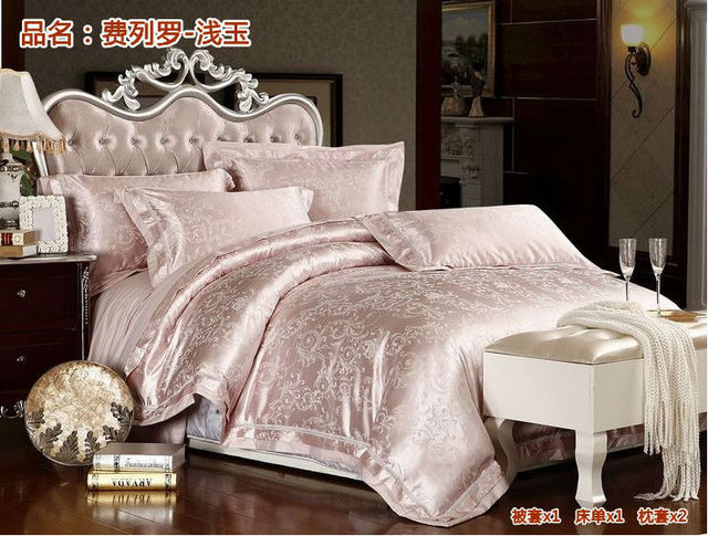 HONEY MOON ! free shipping Tencel  cotton luxury silk jacquard  bedding set  / quilt cover/duvet covers bed sheet, LY210-30