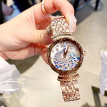 Brand Fashion Women Jewelry Watches Elegant Crystals Peacock