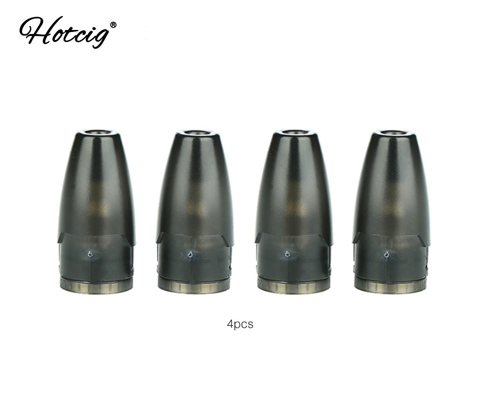 4pcs/8pcs/20pcs Hotcig Kubi Refillable Pod Cartridge With 1.7ml Capacity &1.8ohm Coil Head Pod System For Hotcig Kubi Kit