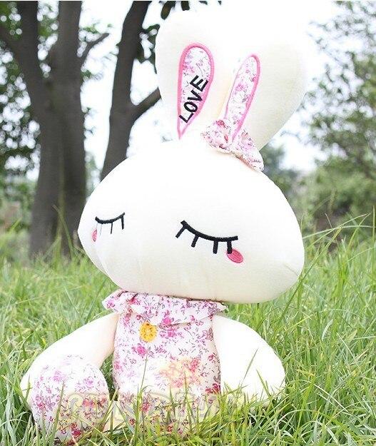 120 cm lovely rabbit floral rabbit plush toy doll gift w4128 комплект аксессуаров для волос lovely floral