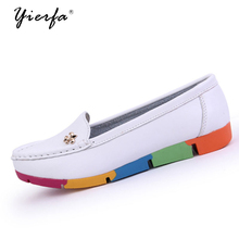 Women Shoes Flats Soft Bottom Shoes White Nurse