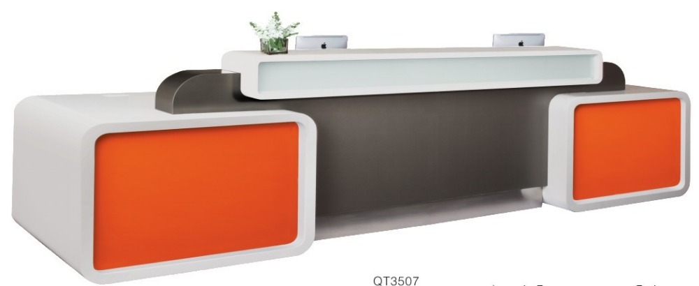 Restaurant Bank Tanning Salon Reception Desk Counter Furniture With  Stainless Steel ComponentsQ3507 In Reception Desks From Furniture On  Aliexpress.com ...