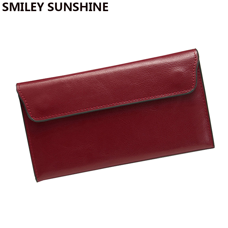Slim Genuine Leather Women Wallets Female Fashion Black Long Thin Wallets and Purses Ladies Card Holders Clutch Wallet Walet aelicy long clutch women wallet female simple retro owl printing womens wallets and purses luxury brand famous card holders