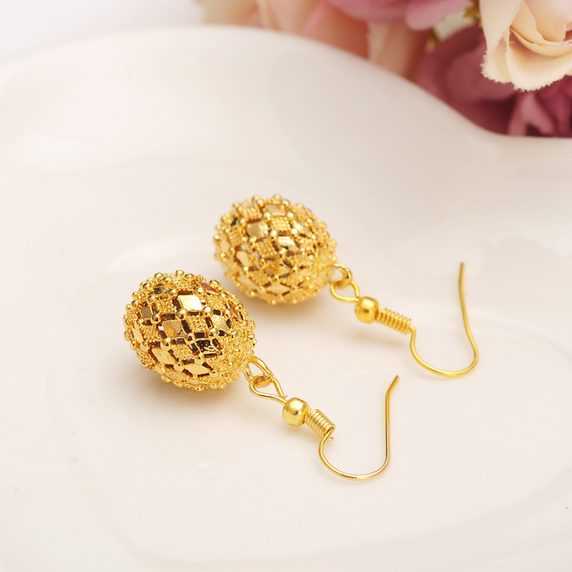 0d10b761b74 Bangrui Beads Earrings for Women Girls Gold Color Ball Earing Jewelry Gifts  African