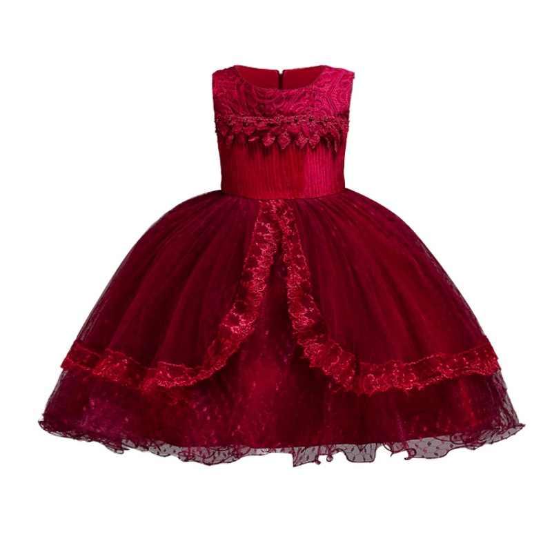 ... Children Dress For Baby Girls Elegant Bow Girl Wedding Dress Kids Party  Dresses For Girls Costume ... 408d54909c69