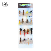 16Pcs Wet Dry Nymph Fly Fishing Flies Lure Set Best Beginners Fly Selection hand tied Flies for Trout Pike grayling