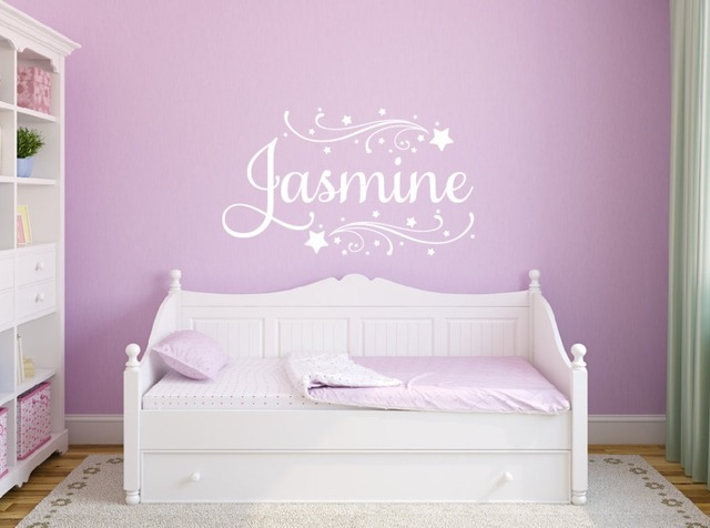 Girls Room Personalized Name Wall Decal Kids Nursery Room Vinyl Wall Stickers For Kids Rooms Girls & Girls Room Personalized Name Wall Decal Kids Nursery Room Vinyl Wall ...