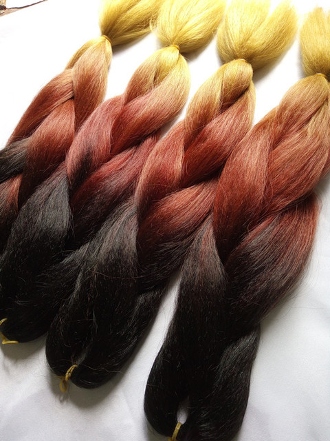 Fabulous Wholesale Brown Golden Yellow Ombre Braiding Hair Extensions 24 Short Hairstyles For Black Women Fulllsitofus